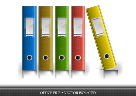 filing documents: office files isolated on the white