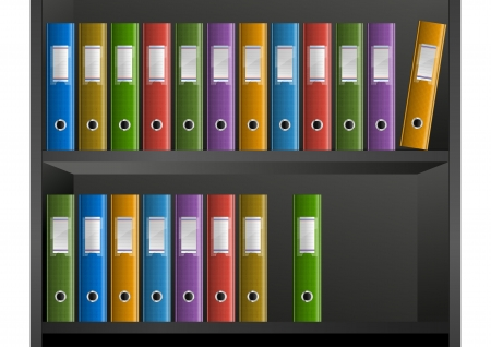 filing cabinet: business files in the library