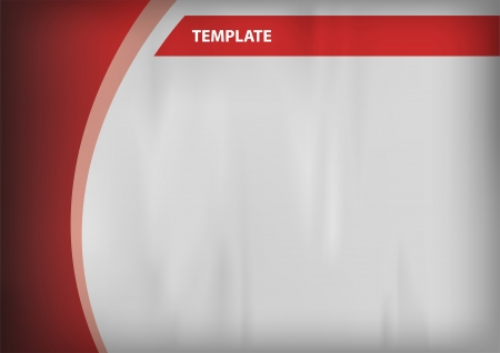 empty template - grey background with red objects
