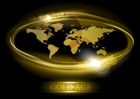 civil partnership: abstract world map in the gold color