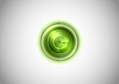 echo: green abstract circle look like radar - vector symbol
