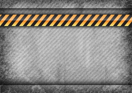 gray strip: gray texture with orange and black strip Illustration