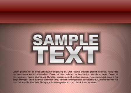 red template - glossy stripe above light space Vector