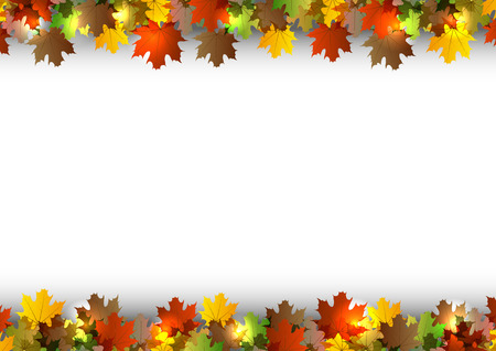 autumn background with white space