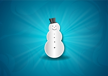 snowman on the blue background Stock Vector - 22495670