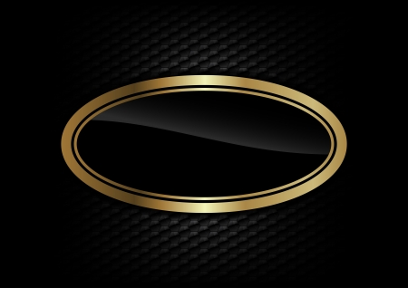 gold ellipse on the dark background Vector