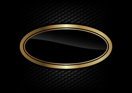 elipse: oro elipse en el fondo oscuro Vectores