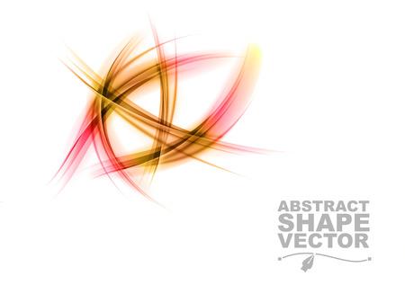 formas abstractas: formas abstractas en el color rojo