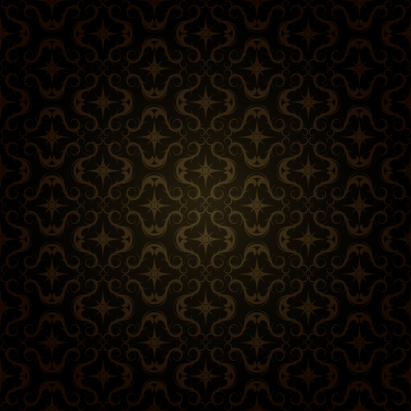 seamless background: gold patterns - dark seamless background