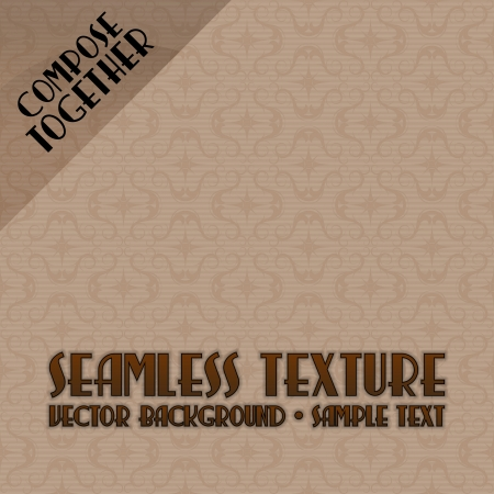 compose: Vector seamless pattern. Brown background tiles. Compose together to any size background.