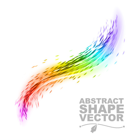 rainbow vector: Abstract rainbow. Vector shapes on the white background.