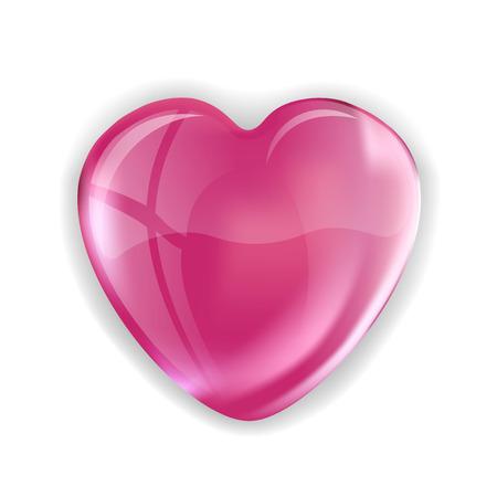 corazon rosa: Coraz�n rosado en el fondo blanco. Forma vectorial.