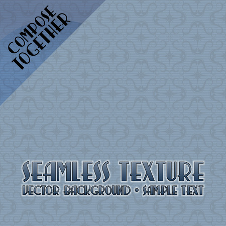 compose: Vector seamless pattern. Blue background tiles. Compose together to any size background.