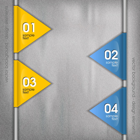 Modern layout. Illustration template and parts - triangles. Vector