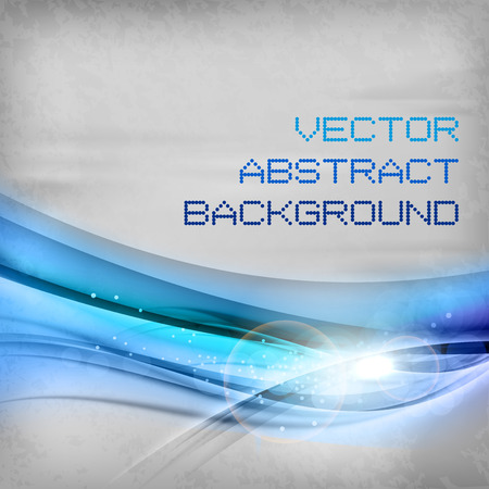 blue wave: Blue wave on the gray space. Vector abstract background. Illustration
