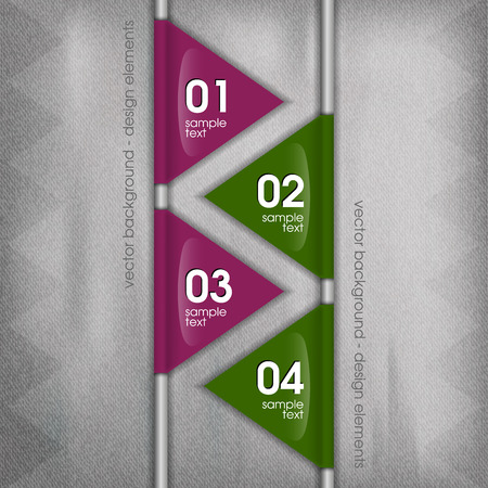 Modern layout. Vector template and parts - triangles. Vector