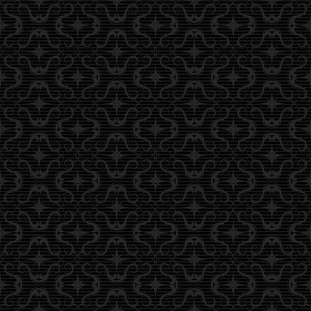 any size: Seamless pattern. Black background tiles. Compose together to any size background. Clear version without sample text.