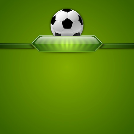 score table: Soccer symbol. Football with green button for score information.
