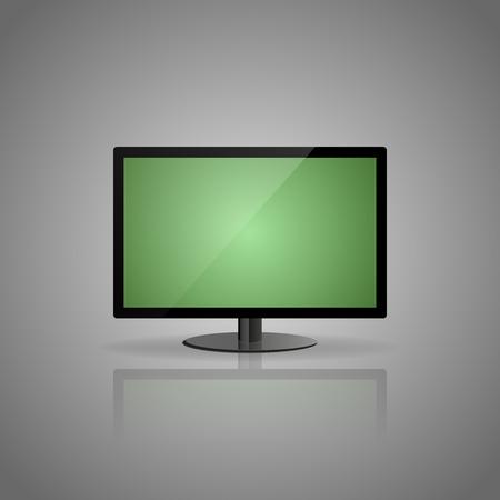 grey background: Pantalla verde en el fondo gris.