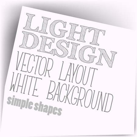 page layout: Simple layout. Vector page in white color. Illustration