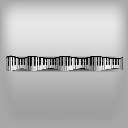 teclado de piano: Teclado de piano de onda como abstracta. Vectores