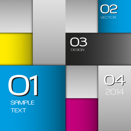 cmyk abstract: CMYK squares as vector layout. CMYK color space.