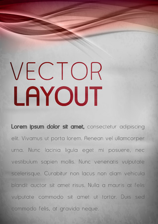 poster red: Red template. Vector background with sample text. Illustration