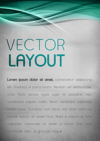 Turquoise template. Vector background with sample text. Vector