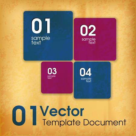 old paper background: Modern element. Vector squares on the old paper background.