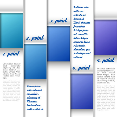 page layout: Color layout as simple modern page. Vector design.
