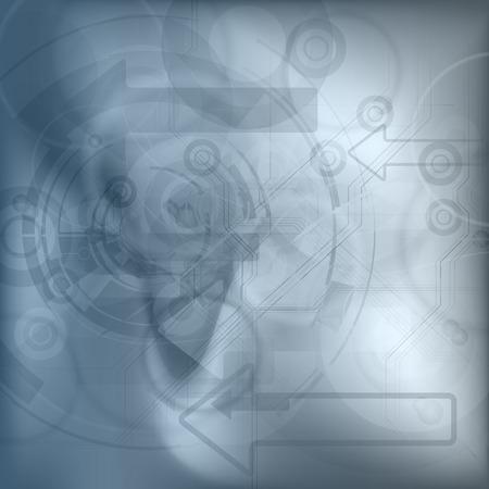 tech background: Fondo abstracto de la tecnolog�a. Elementos del vector. Versi�n sin texto de ejemplo.