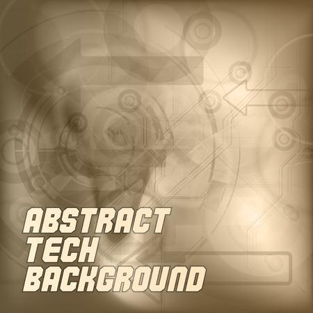 tech background: Fondo abstracto de la tecnolog�a. Elementos del vector. Versi�n con texto de ejemplo. Vectores