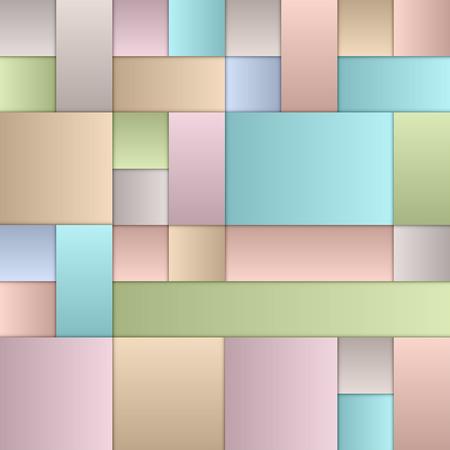 pastel colours: Colores cuadrados en colores pastel como el dise�o vectorial.