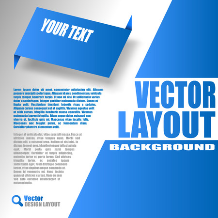 Blue layout. Vector design of page. Vector
