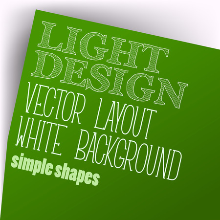 page layout: Simple layout. Vector page in green color. Illustration