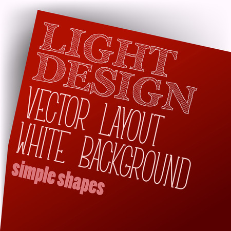 page layout: Simple layout. Vector page in red color.