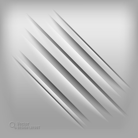 furrow: Gray background with diagonal shadows. Vector elements. Illustration