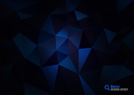 Triangles background. Vector abstract pattern. Dark vignette with vivid center. Vector