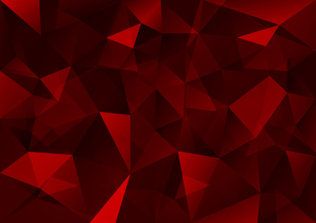 Triangles background. Red vector abstract pattern.