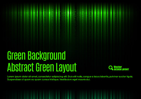 neon green: Black background with green lnes in the top and bottom of the page.