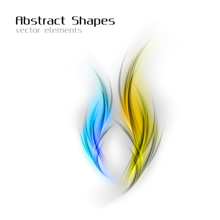 abstract vector: Abstract vector shapes in the blue and yellow colors.