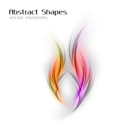 abstract vector: Abstracte vector vormen in het oranje en paarse kleuren.