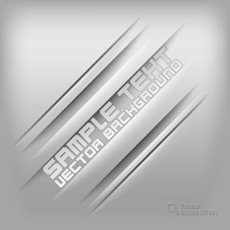 Gray background with diagonal shadows. Vector elements. Vector