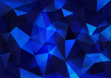 Triangles background. Blue vector abstract pattern.