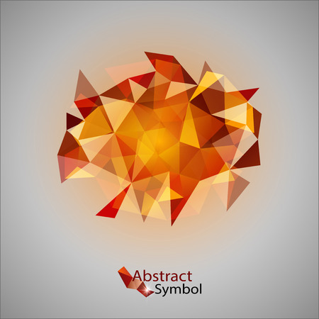 edgy: Red triangles as abstract symbol on the gray background. Illustration
