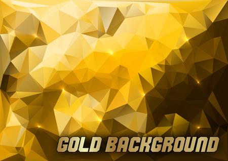 triangles d'or comme abstrait vecteur de fond. Vecteurs