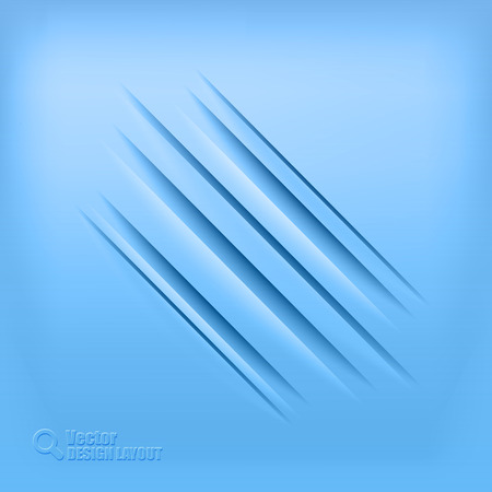 furrow: Blue background with diagonal shadows. Vector elements.