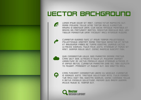 Green design layout. Gray background with green stripes. Vector elements. Vector