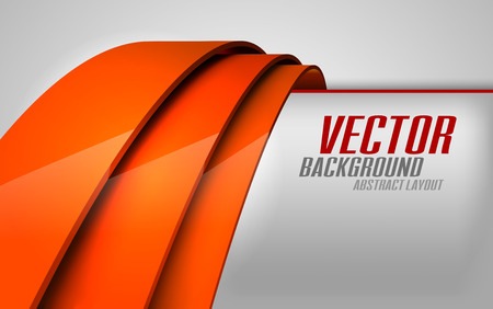 Red lines as modern layout. Vector background. Vector