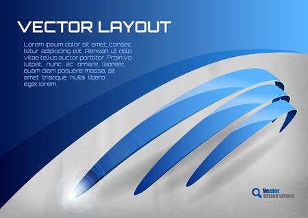 blue wallpaper: Blue layout. Vector design elements.